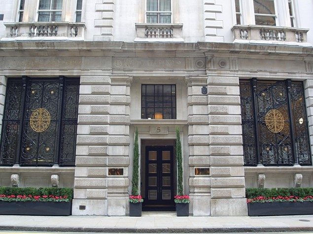 Threadneedles' entrance shows off its elegant ornamental metalwork and stone detail