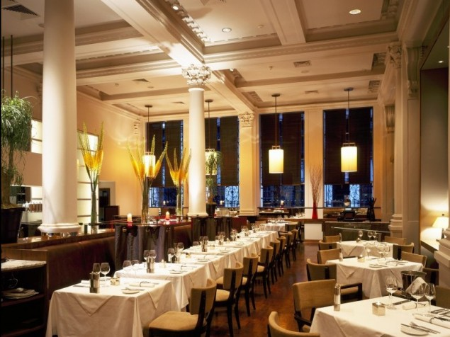 Strong architectural elements provide a classic presence for modern British cuisine