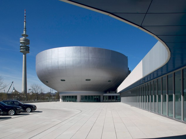 The dramatic presence and abstract symbolism of the original BMW Museum