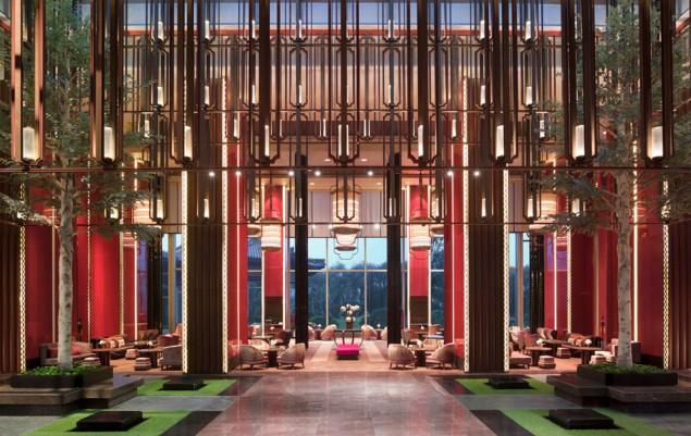 This awe-inspiring, elegant lobby at Shangri-La Qufu, China, won design firm AB Concept the top award for public space