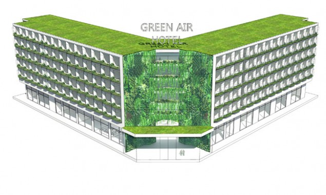 The green air hotel a sustainable design concept whose for Hotel concepts